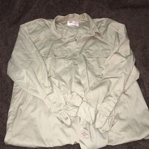 Men's dickies button up shirt
